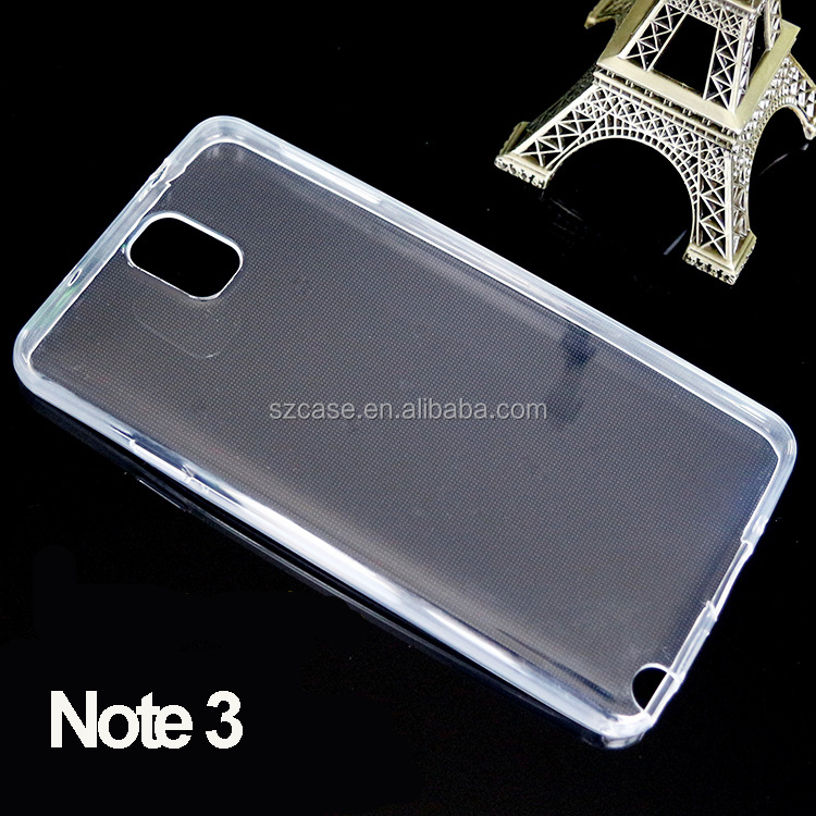 1.0mm High Clear transparent tpu mobile phone back cover case for samsung galaxy note 3