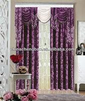classic flocking european style living room curtains