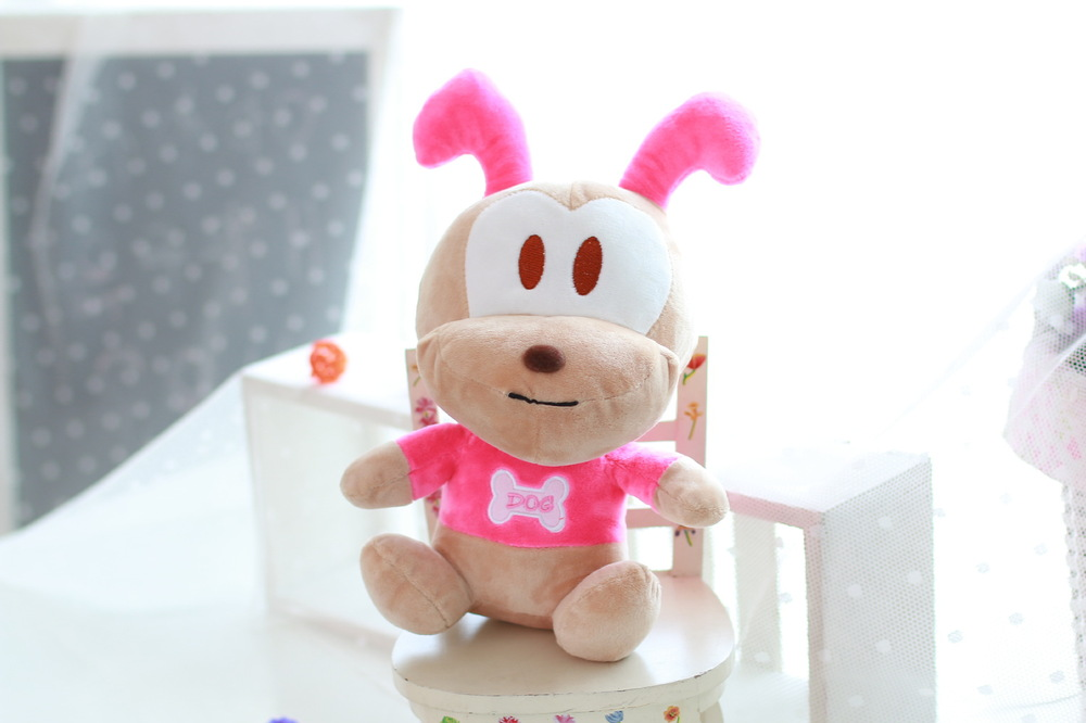 Plush puppy with big ears Stuffed cartoon dog toys Soft cartoon animal doll