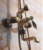 CE copper exposed wall mounted gold-plated bathroom faucet