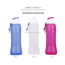Non-toxic silicone foldable drinking bottles sport water bottle carrier