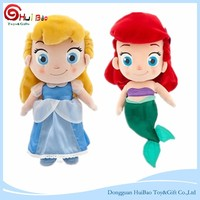 Cinderella & Mermaid Plush Doll children costume minion stuffed Toy
