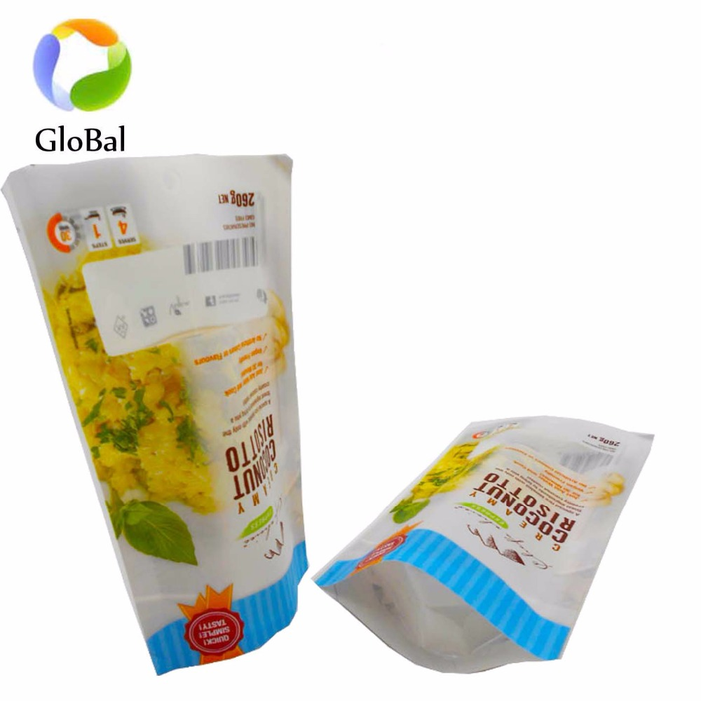 Custom printed dried fruit plastic bags with own logo zipper packaging bag
