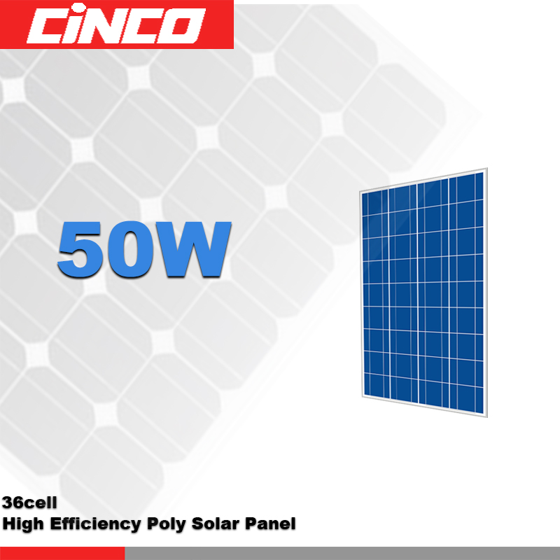 50w 60W Solar Panel Poly Crystalline silicon PV cell used for Solar kit