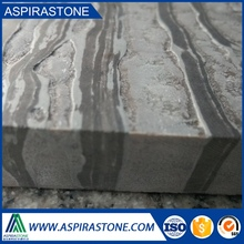 Brushed finish Zebrano Grey marble tiles price