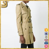 OEM factory price women winter trench coat, more colors for choice women full length leather trench coat