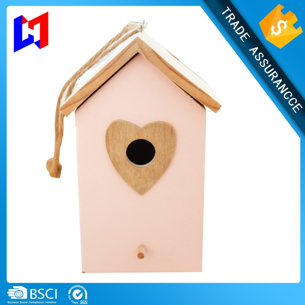 DIY wooden bird houses toy/decorative painting bird houses/small wooden bird houses