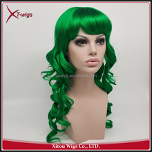 China Supplier Fashion Style Various Color Cosplay Green Wig