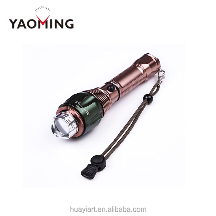 New LED Flashlight Focus Beam High Power Flashlight Factory Direct Sale Zoom Light Self Defense Weapon YM-8120