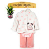 hooded baby girls clothing winter sets thick coral fleece Under 6 years