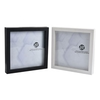 "Shadow box plstic 8x8 plastic photo picture frame with 8x8"" size"