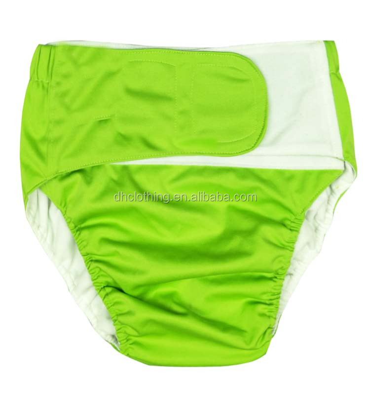 Rainbow Island reusable waterproof cute sized adult youth cloth diaper adult incontinent pant diaper with hook and loop