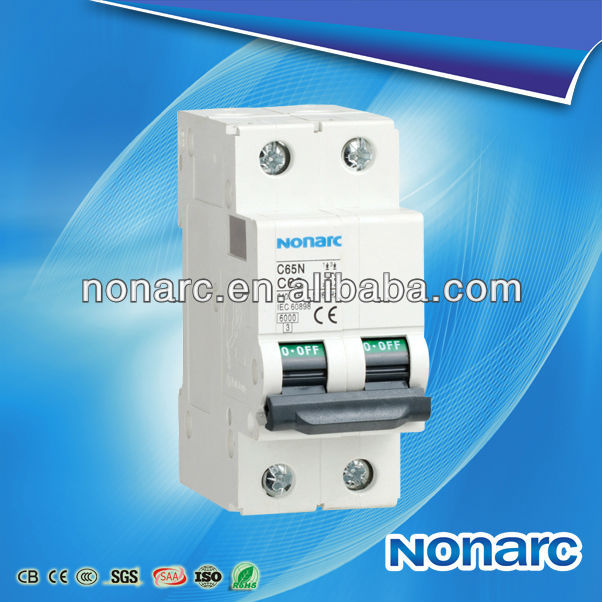 C65N 50HZ Or 60HZ High Breaking Auto Reset Circuit Breaker