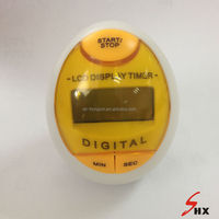 Egg shape yellow color digital timer factory cheap price good quality cute type