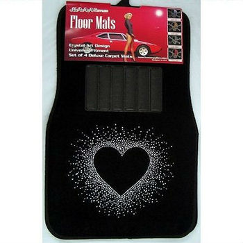 Crystal Heart Floor Mats