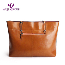 Hot China Products Wholesale Top Grain Fashion Lady Leather Handbag