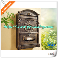 China casting foundry cheap price oem customized aluminum cast mailbox postbox letter box