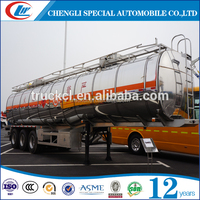 Hot sale 32000liters with 5 compartments Aluminum fuel tanker trailer dimensions for sale in Cambodia