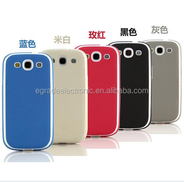 Diamond grain material TPU cover leather mobile phone cases for Samsung S3 i9300