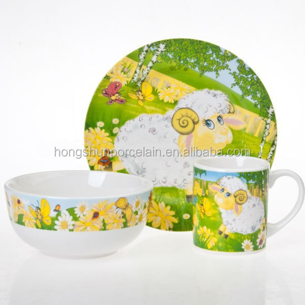 tableware kits , kids tableware , porcelain baby dinner set