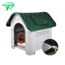 Waterproof dog kennel pet house outdoor indoor eco-friendly plastic house luxury