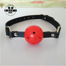 Adult erotic game sex toys, couple plug oral bdsm fetish bondage ball open mouth gag