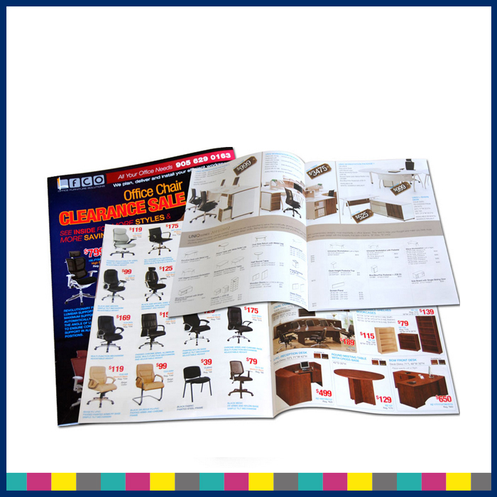 Custom printing colorful softcover advertising catalog