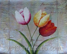 20x25cm-100x100cm Rose Flower Oil Painting On Canvas With Vivid Color For art gallery
