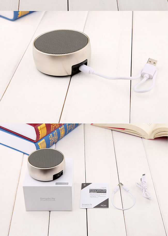 cool gadgets metal portable blutooth speaker, 3w subwoofer speaker, mp3 wireless speaker