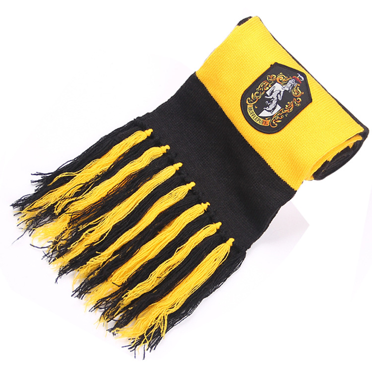 Wholesale Scarf Gryffindor/Hufflepuff/Ravenclaw/Slytherin Scarves Wide Striped Warm Personality Cosplay Scarf