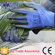 NMSAFETY light weight touch screen use new style PU labor gloves with touch screen gloves