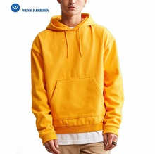 2017 New Design Customized Plain Cotton Oversized Men Pullover Hoodie Wholesale