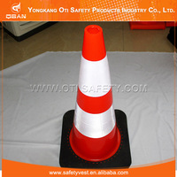 Protective high visibility safety reflective flashing traffic cone