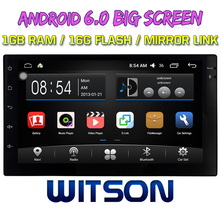 WITSON Android 6.0 BIG SCREEN CAR DVD For UNIVERSAL Double Din with Short 1G ROM 16GB ROM WIFI External DSP box PIP