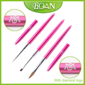 BQAN 2017 New Arrival Crystal Colored Diamond Logo Gel Paint Drawing Nail Art Polish Brush Acrylic Nail Brush