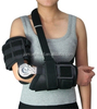 POST-OP ROM hinge Elbow Brace E1 foam padded plastic shell with circular straps