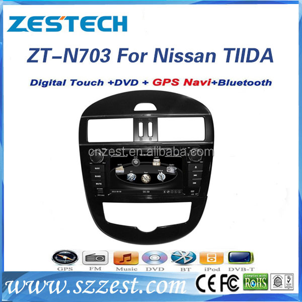 7 inch car gps navigaiton system for Nissan Tiida 2 din car dvd player auto radio/audio system with GPS DVD FM/AM Support IPOD