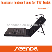 Portable high quality leather tablet keyboard case 8 inch tablet pc case with keyboard