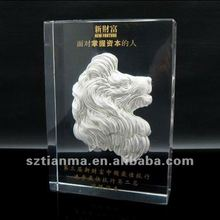Horse Decoration Lucite Resin Sculpture