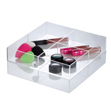 Custom Fancy premium acrylic divider tray Acrylic with lid plexiglass lucite organizer classy pop tray other color is available