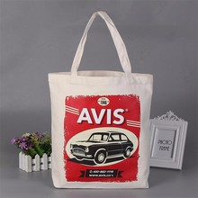 wholesale customized logo heat seal cotton shopper bag