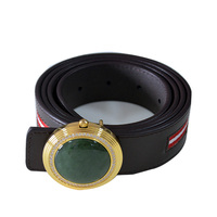 Luxury genuine jade cow leather perfume leather belts for men