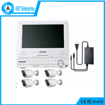 TOP selling Power Line Communication PLC NVR Kit IP Camera&NVR PLC Kit in China with 10 inch lcd display