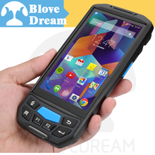 LTE 4G wireless fingerprint scanner mobile barcode scanner handheld rfid scanner
