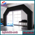 Ningbang factory price black 6m length entrance inflatable gate/arch for race