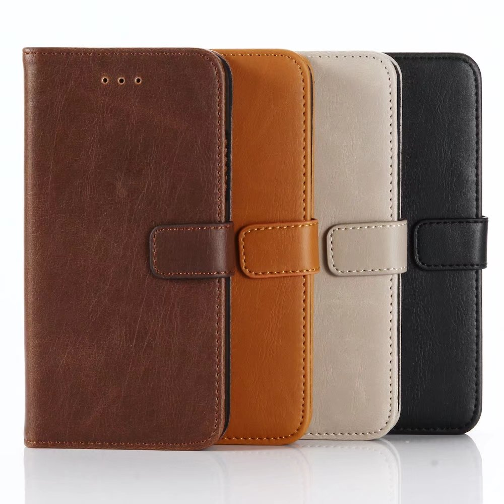 Wallet Design card holder stand function leather phone case for iPhone 8