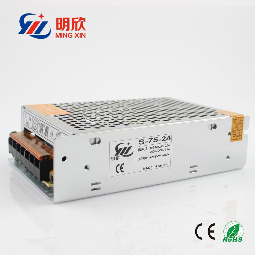 24v 3a 75w Switching Power Supply 24v 3a 75w Led Power