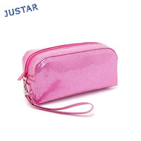 Best Selling Waterproof Shiny PVC Leather Women Bulk Cosmetics Storage Wholesale Cheap Makeup Cosmetic Bag