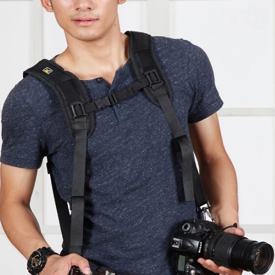 Caden viration-reduce pressure-resistance dual/double shoulder strap looking for distributor wholesale dslr camera straps