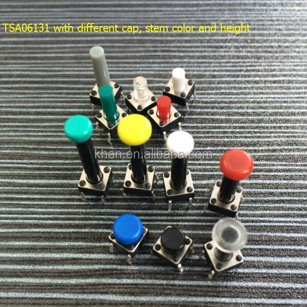 China Manufacturer Khan Quality momentary surface mount push button tact switch